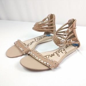 Sam Edelman Gladiator Studded Sandals Like New!